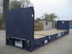 40' flush folding rack container