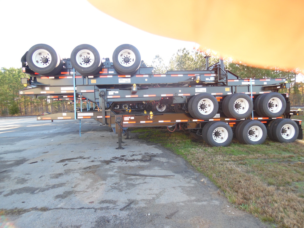 Tri Axle Chassis : New tri axle container chassis yellow deck